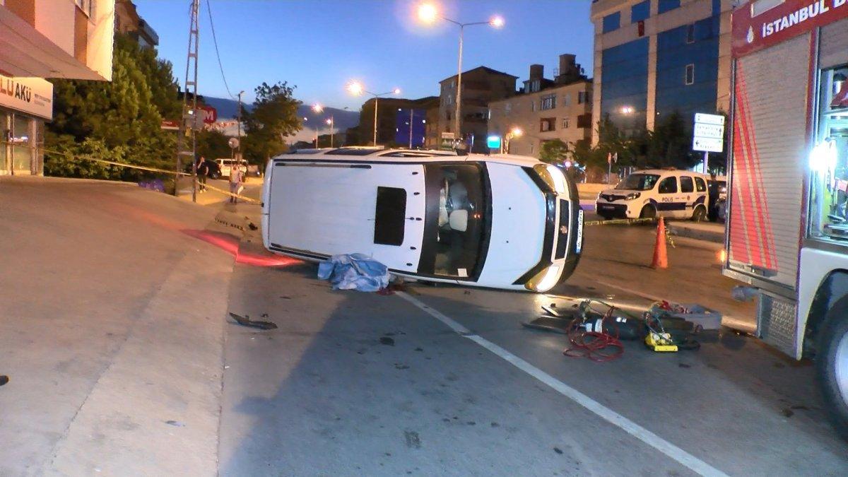 Sancaktepe de kaza yapan sürücü yaşamını yitirdi #2