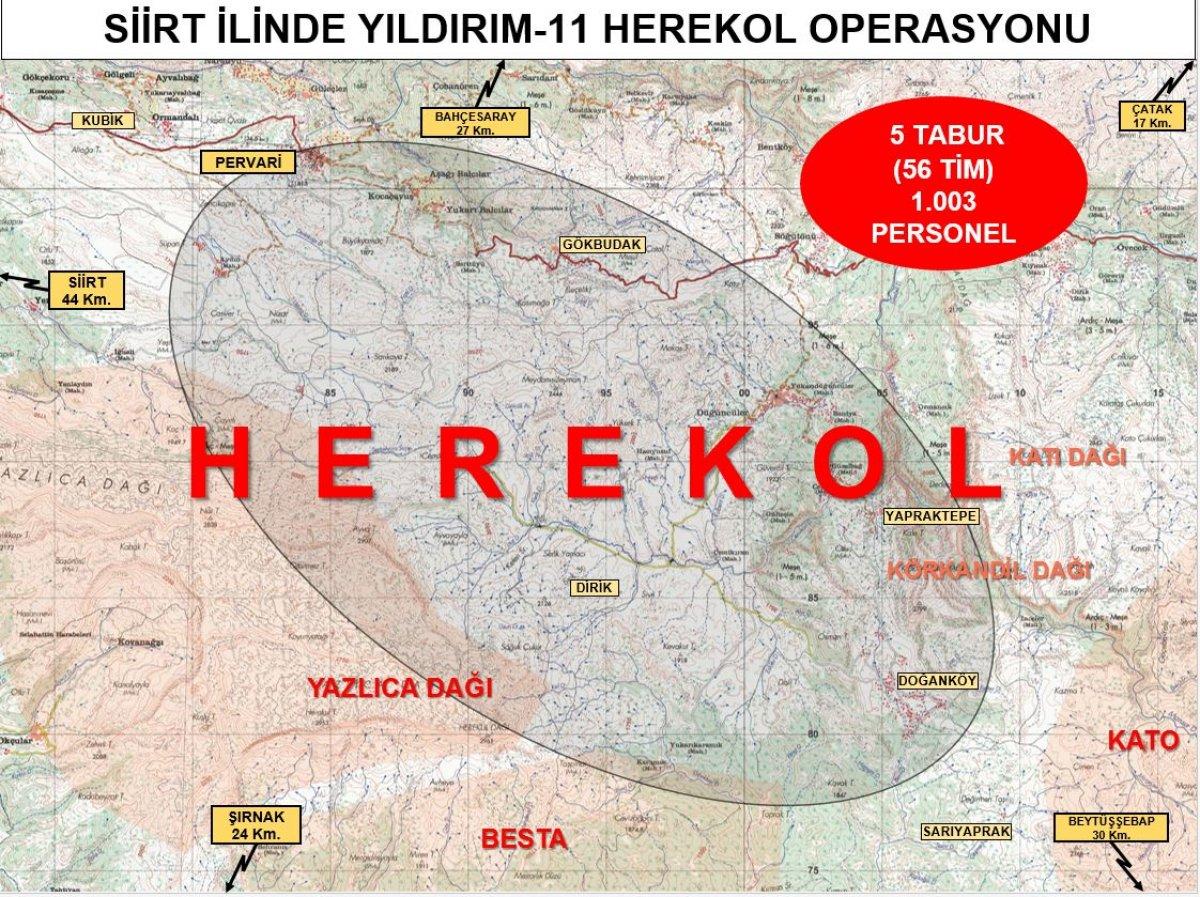 Siirt te Yıldırım-11 Herekol Operasyonu başlatıldı #8