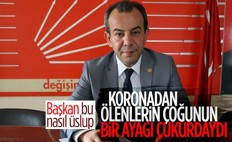 Tanju Özcan'ın koronadan ölenler için söylediği söz tepki topladı