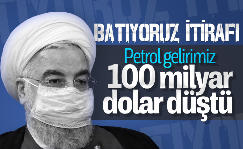 Ruhani açıkladı: İran'ın petrol gelirleri 20 milyar dolara düştü