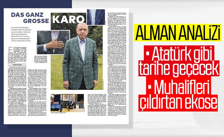 Cumhurbaşkanı Erdoğan'ın ekose ceketleri Almanya'nın gündeminde
