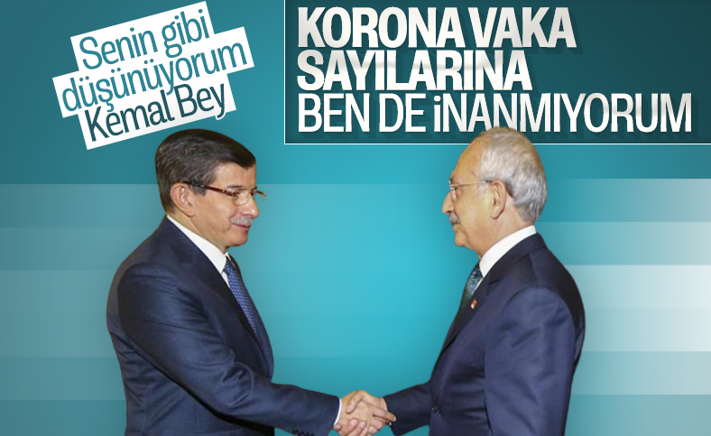 Ahmet Davutoğlu: Korona vaka sayıları düzmece