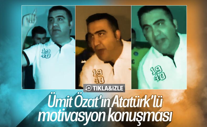 Ümit Özat, oyuncularını Atatürk'le motive etmeye çalıştı
