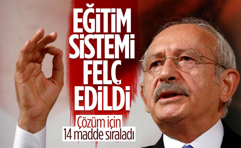 Kemal Kılıçdaroğlu, eğitim için 14 maddelik öneri sundu