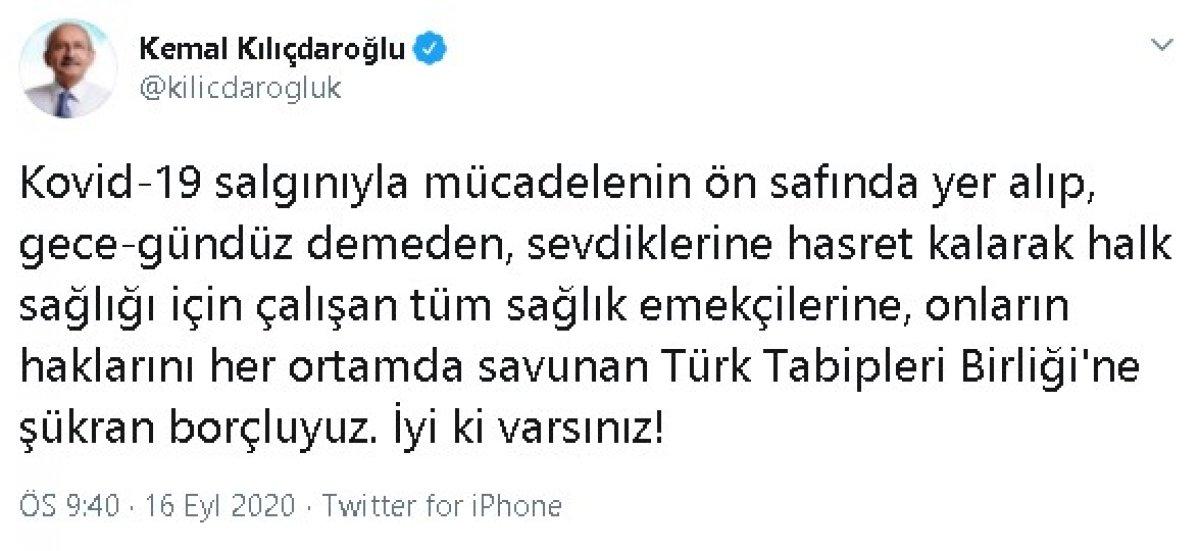 Kılıçdaroğlu ndan Tabipler Birliği ne destek #1
