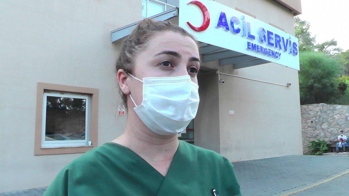Antalya'da turistler, maske uyarısı yapan hemşireyi darbetti