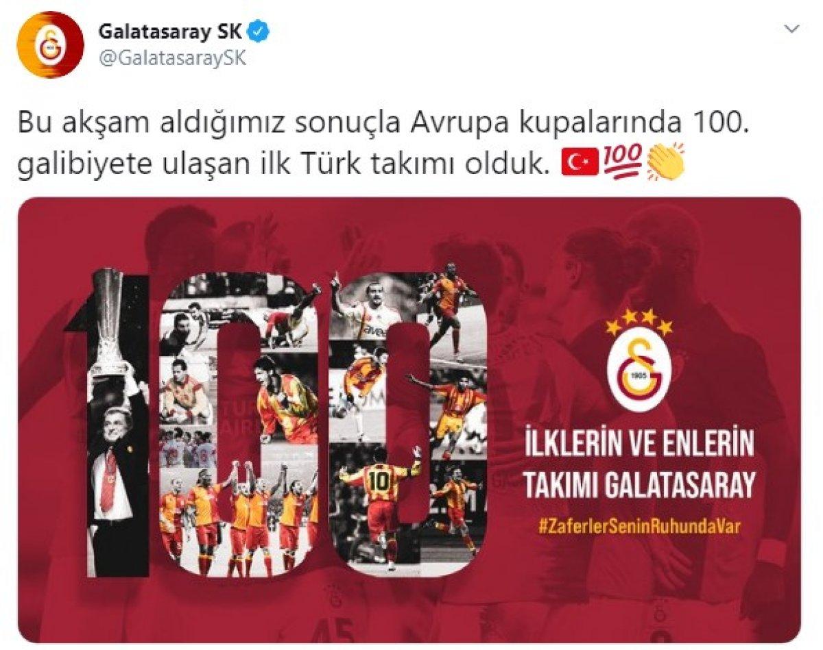 Galatasaray Avrupa kupalarında 100 galibiyete ulaştı #2
