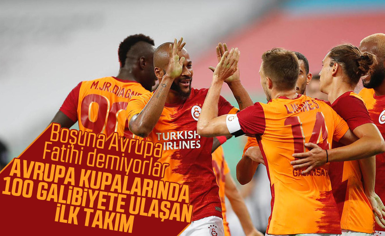 Galatasaray Avrupa kupalarında 100 galibiyete ulaştı