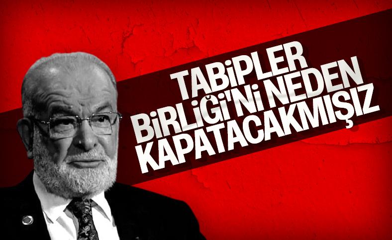 Temel Karamollaoğlu TTB'nin kapatılmasına karşı olduğunu söyledi