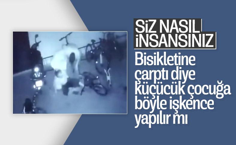 Gaziantep'te komşularının çocuğuna şiddet uygulayan çift kamerada