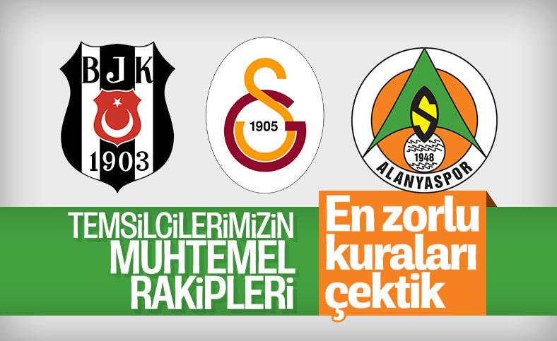 Beşiktaş ve Galatasaray'ın UEFA'daki muhtemel rakipleri