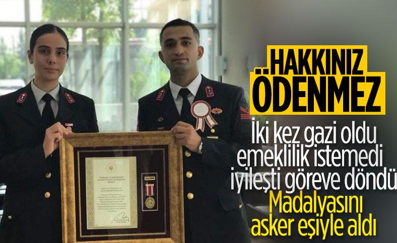 Uzman Çavuş Mehmet Karaalp'e Devlet Övünç Madalyası verildi
