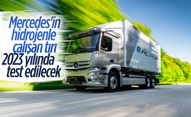 Mercedes, hidrojenle çalışan tır modelini tanıttı