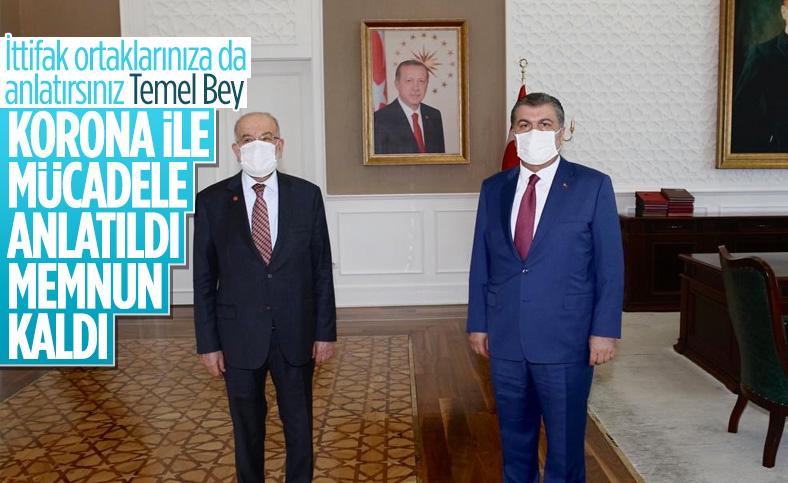 Fahrettin Koca, Temel Karamollaoğlu'na korona ile mücadeleyi anlattı