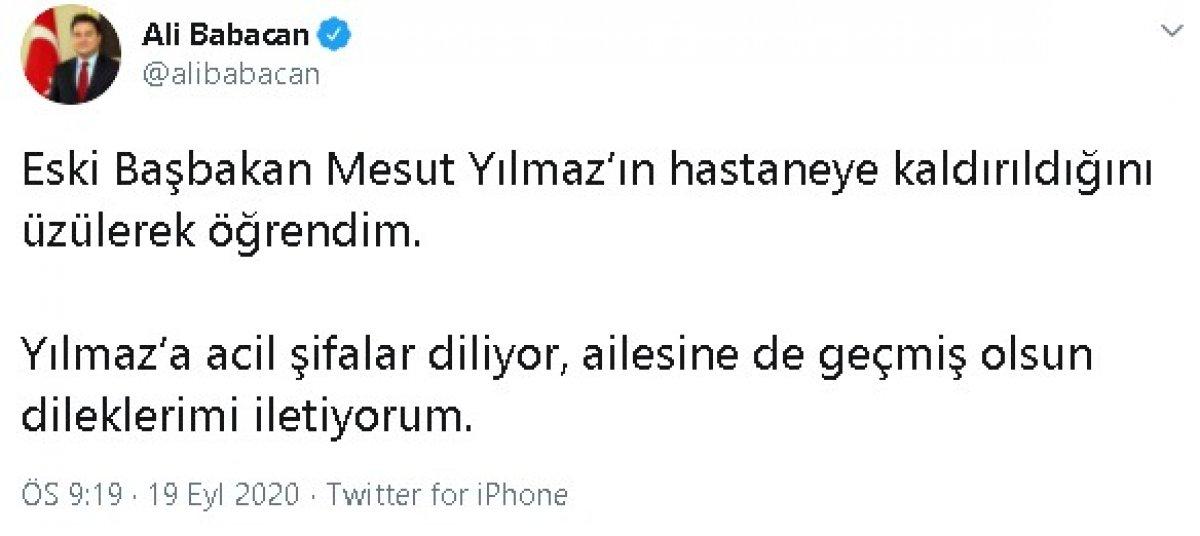 Mesut Yılmaz hastaneye kaldırıldı #2