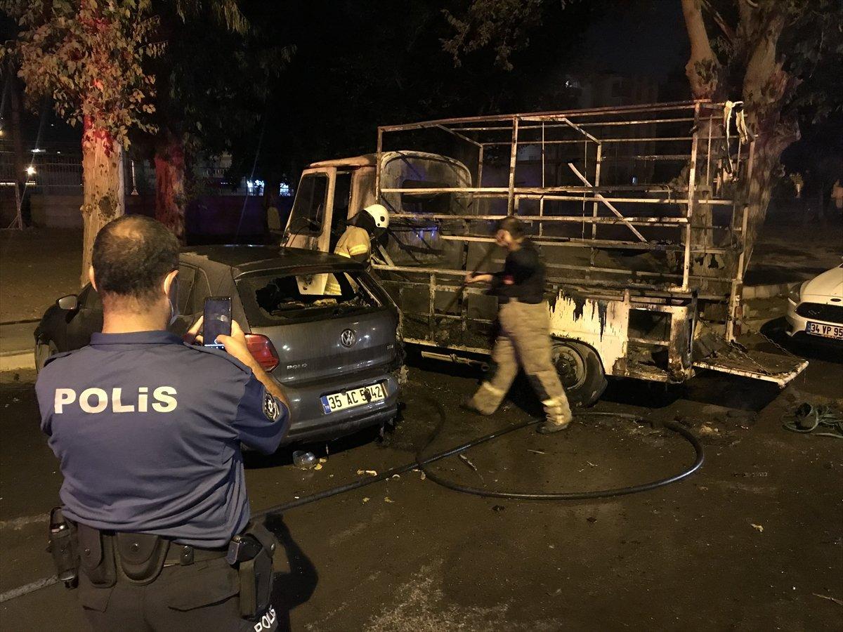 İzmir de 3 aracı kundakladığı iddia edilen zihinsel engelli kişi yakalandı #3