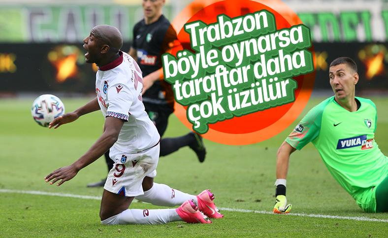Trabzonspor'dan Denizlispor deplasmanında golsüz beraberlik
