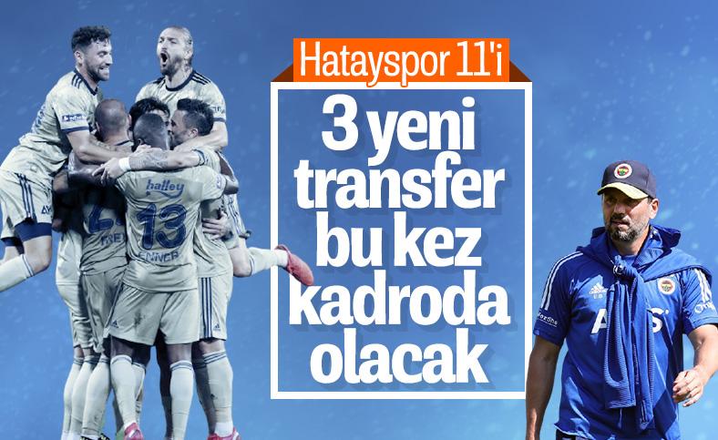 Erol Bulut'un Hatayspor maçında sahaya süreceği 11