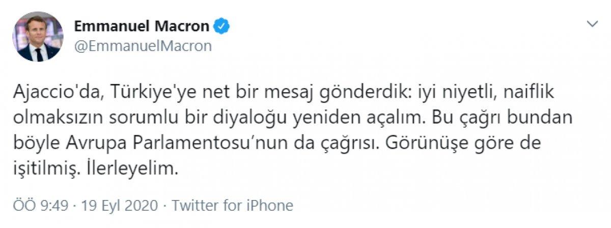 Macron dan Türkçe paylaşım: İyi niyetli diyaloğu tekrar açalım #1