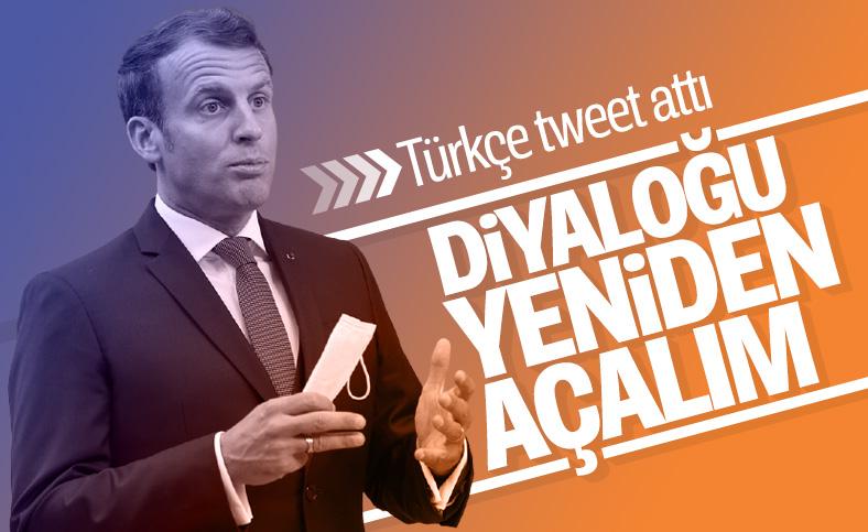 Macron'dan Türkçe paylaşım: İyi niyetli diyaloğu tekrar açalım