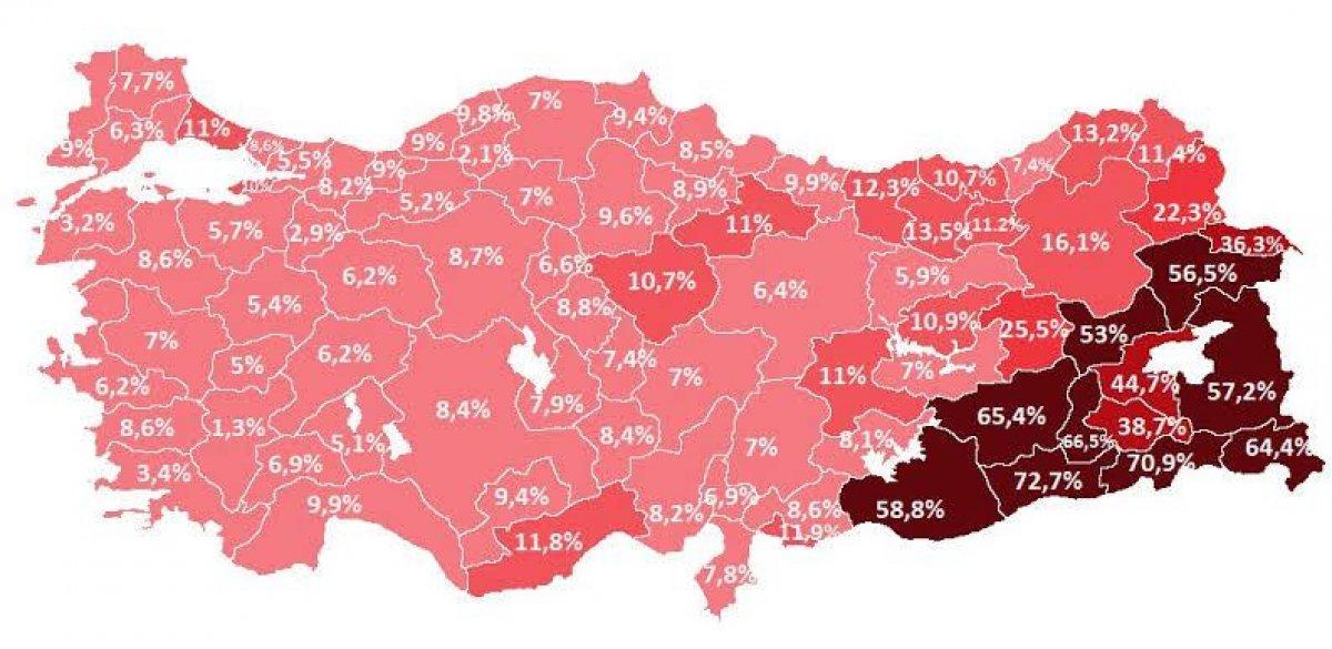 Türkiye de kaçak elektrik kullanım haritası  #1