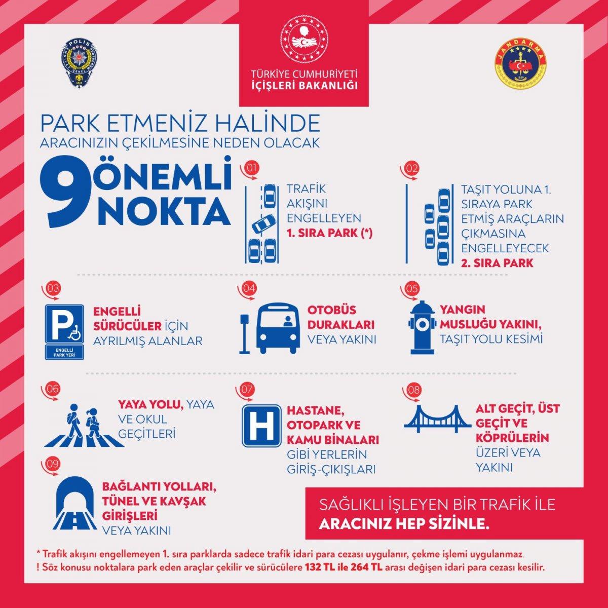 Emniye Genel Müdürlüğü, yanlış park nedeniyle çekilen araçlarla ilgili uyarıda bulundu #1