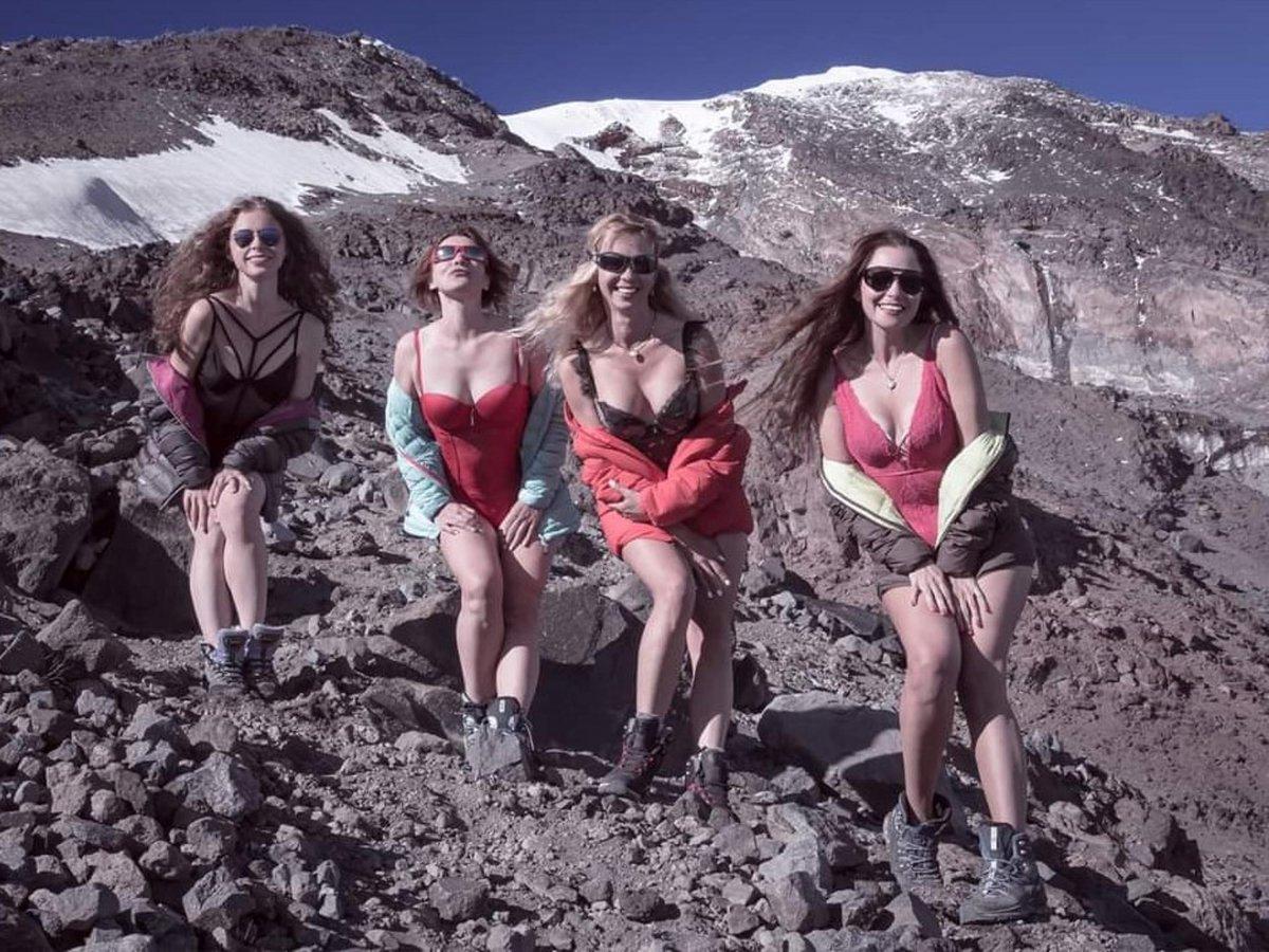 Ukraynalı turistler Ağrı Dağı'nda