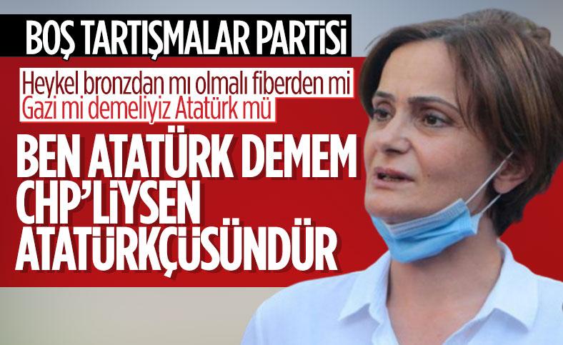 Canan Kaftancıoğlu, Atatürk tartışmalarıyla CHP'nin bölünemeyeceğini söyledi