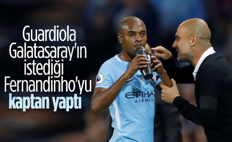 Manchester City'nin yeni kaptanı Fernandinho