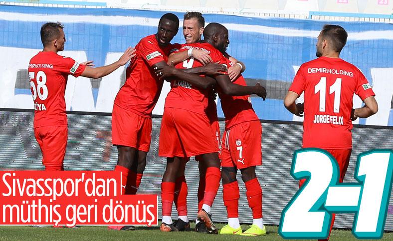 Sivasspor 4 dakikada 3 puanı aldı