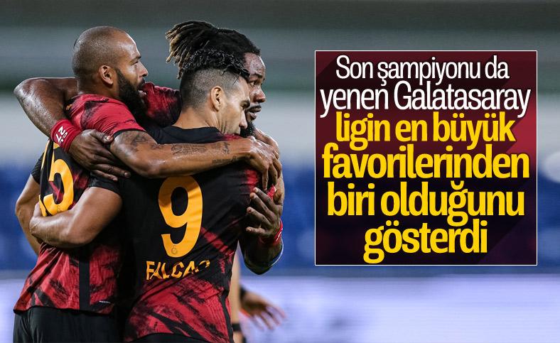 Galatasaray son şampiyon Başakşehir'i devirdi
