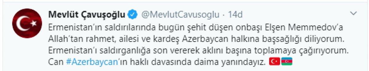 Mevlüt Çavuşoğlu: Ermenistan aklını başına toplasın #1