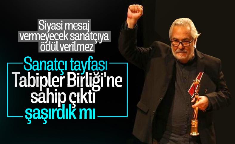 Ödül alan Rutkay Aziz'den Türk Tabipler Birliği'ne destek