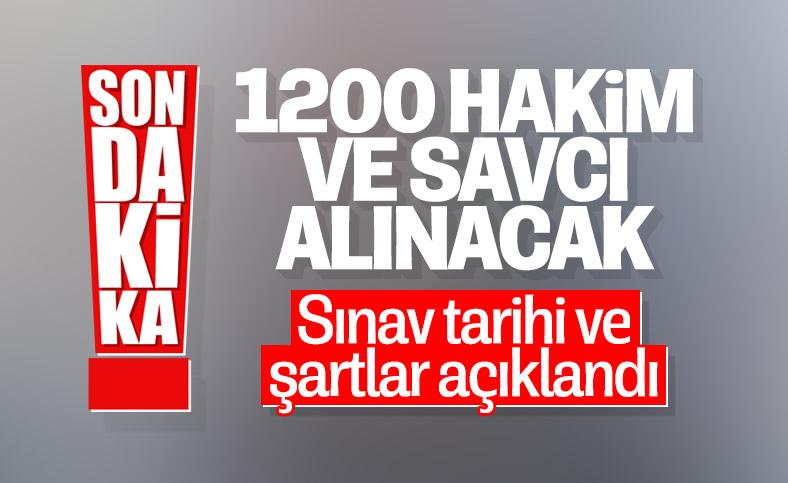 Adalet Bakanlığı, 1200 hakim ve savcı alacak: İlan yayınlandı