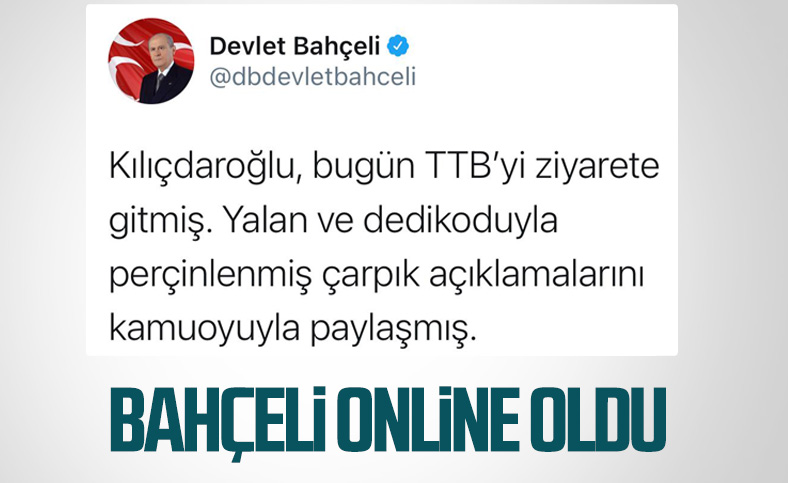 Devlet Bahçeli: TTB'ye yönelik eleştirilerime Kılıçdaroğlu'nun cevap vermesi doğaldır
