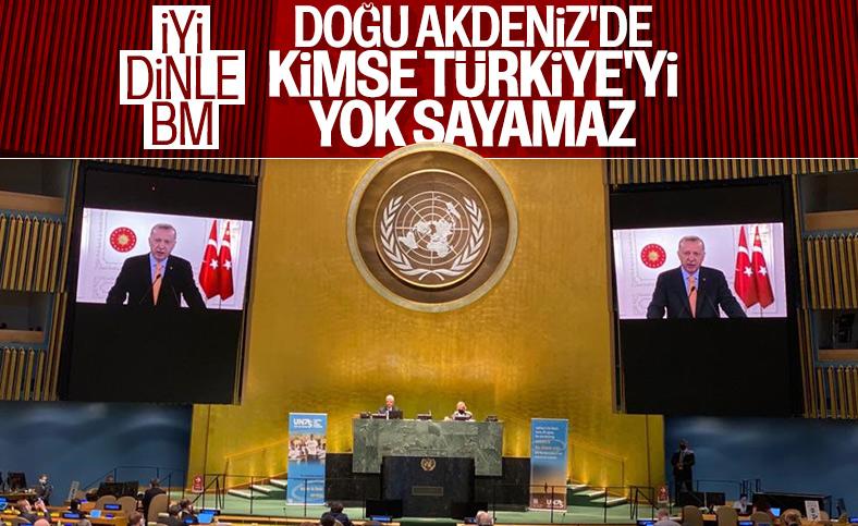 Cumhurbaşkanı Erdoğan'dan BM Genel Kurulu'nda Doğu Akdeniz mesajı