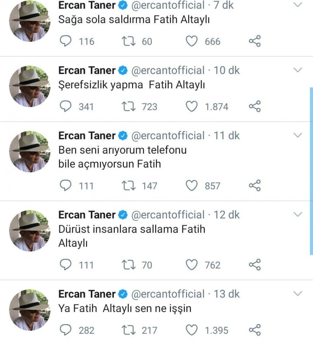 Ercan Taner, Fatih Altaylı nın telefonunu Twitter da paylaştı #2