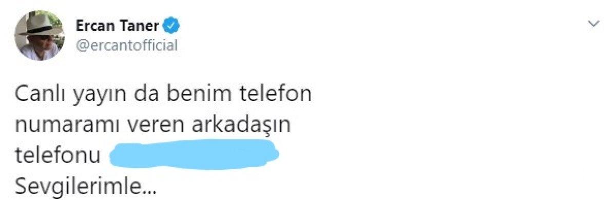 Ercan Taner, Fatih Altaylı nın telefonunu Twitter da paylaştı #3
