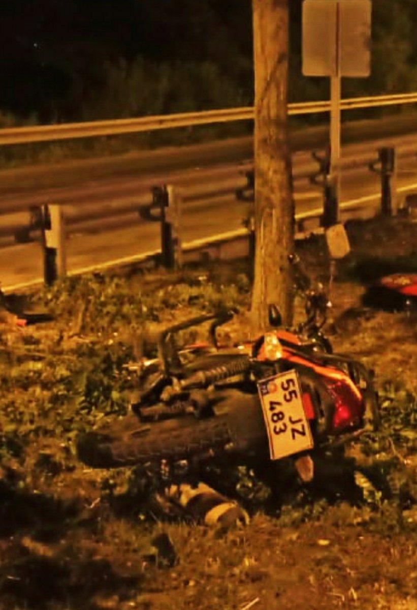 Samsun da motosiklet kazası: 1 ölü #1