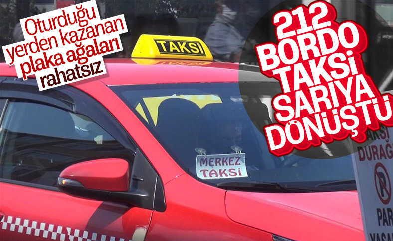 İstanbul'da taksicilerin bordo tartışması