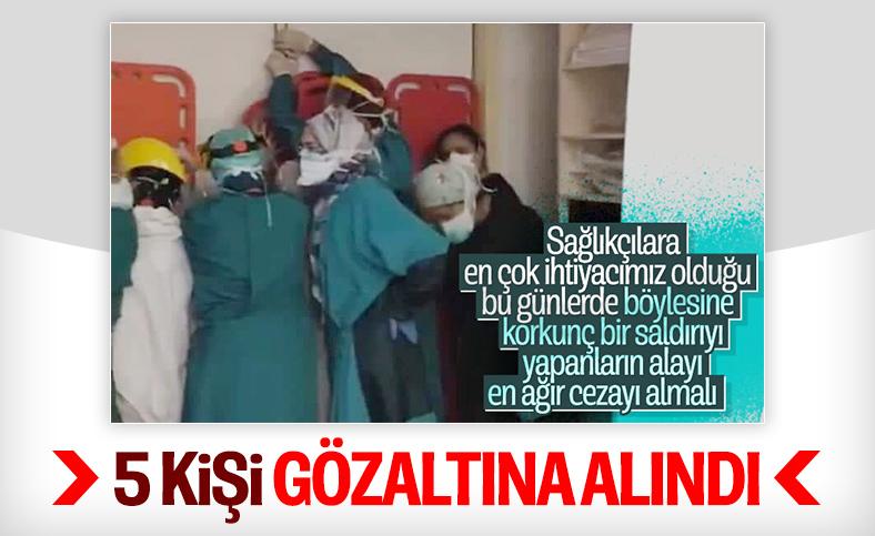 Sağlık çalışanlarına saldırı girişiminde 5 şüpheli gözaltına alındı