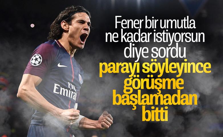 Edinson Cavani'nin Fenerbahçe'den isteği: 153 milyon TL