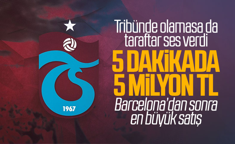 Trabzonspor, Barcelona'dan sonra en yüksek ilk satışı yaptı