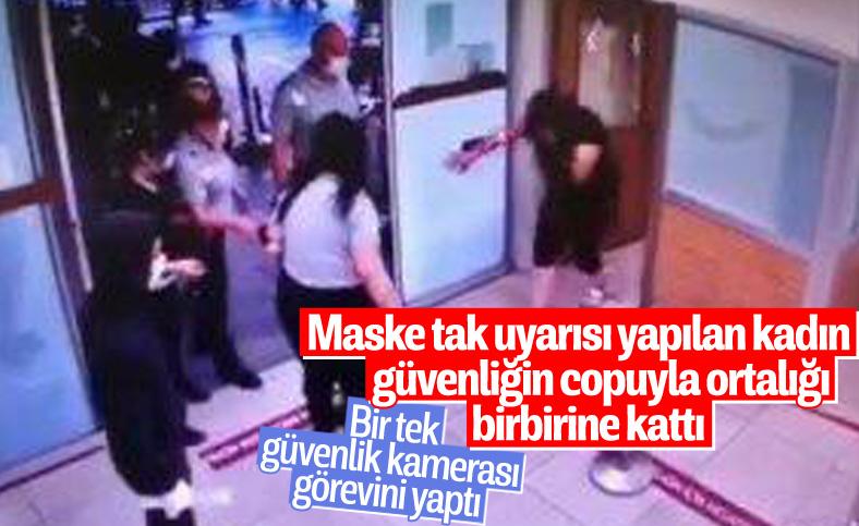 İstanbul'da polis copuyla camları kırdı, polise saldırdı