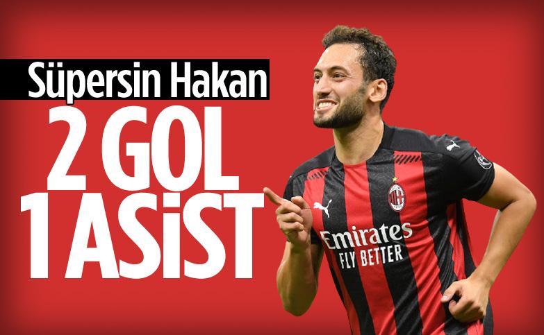 Hakan Çalhanoğlu'ndan 2 gol 1 asist