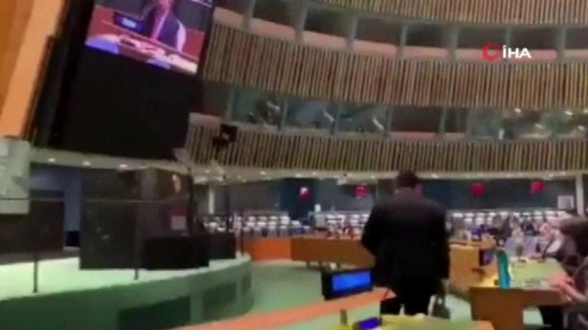 BM toplantısında Pakistan Başbakanı konuşurken, Hintli diplomat salonu terk etti #3
