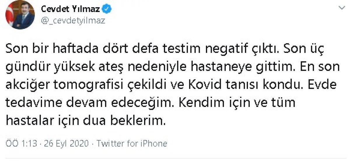 AK Partili Cevdet Yılmaz koronavirüse yakalandı #1