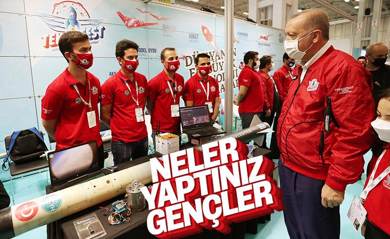 Cumhurbaşkanı Erdoğan, Gaziantep'te Teknofest standlarını gezdi