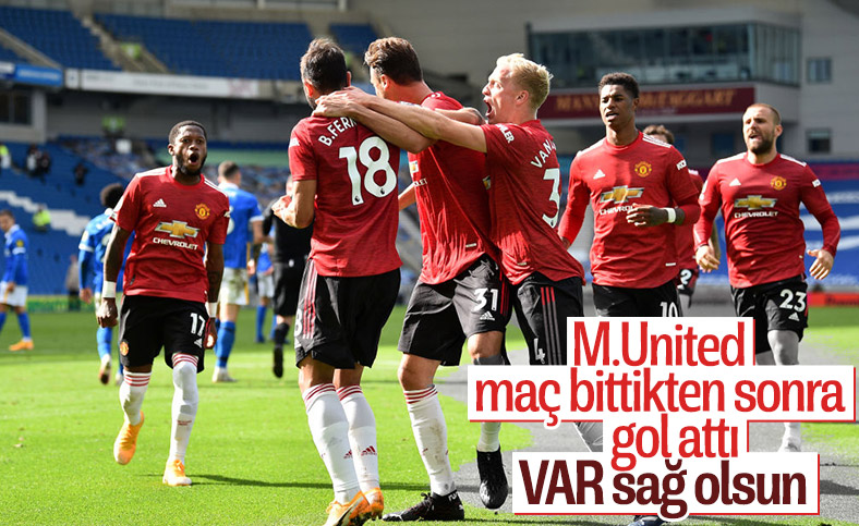 Manchester United, Brighton'u temdit penaltısıyla yendi