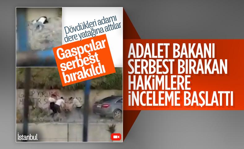 İstanbul'da gasp ve darp zanlılarını serbest bırakan hakimlere inceleme